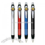 Retractable pen with bling look grip
