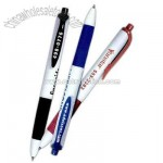 Retractable two tone gel roller pen