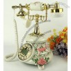 Retro Classic Telephone Pink Rose Fancy European Style