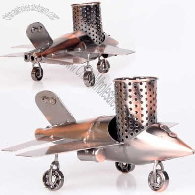 Retro Fighter Plane Model Pen Holder