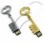 Retro Metal Key Shape USB Flash Drive