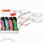 Retro Pattern Reading Glasses with Display Stand