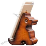 Retro Wooden Animal Cell Phone Holder Stand