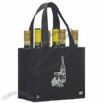 Reusable 6 Bottle Wine Tote Bag