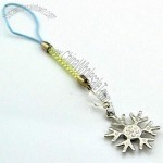 Rhodium-Plated Alloy Snow-Shaped Mobile Phone Straps