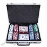 Right Corner Aluminum Poker Set with 200pcs 11.5g Poker Chips