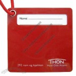 Rigid Hard PVC Luggage Tag with Cotton Strap