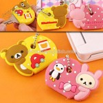 Rilakkuma and Korilakkuma Pair Key Cover Ball Chain