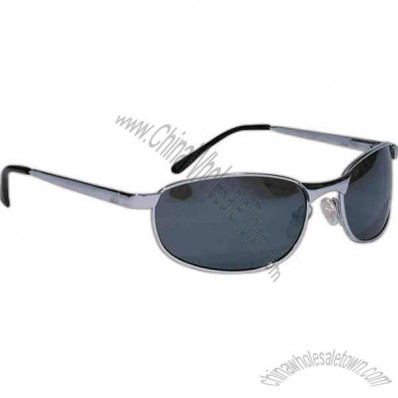 Rio - Gunmetal - Wraparound Sunglasses With Smoke Lenses And Spring Temple