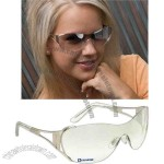 Rio Diva - Wraparound Sunglasses With Silver Metal Frame And Indoor/outdoor Lenses