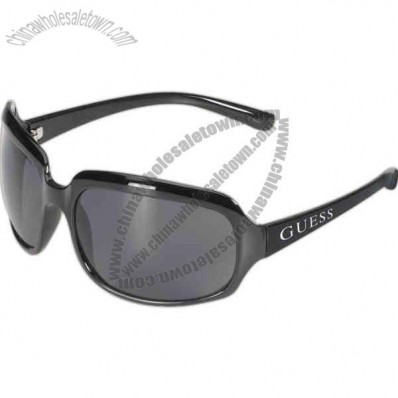 Rio Malibu - Large Black Frame Sunglasses With A Smoke Lens