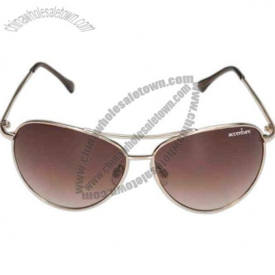 Rio Maverick - Gold Aviator-style Frame Sunglasses With Smoke Lens