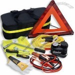 Road Safety Car Tool Kit with Air Compressor, Booster Cable and Screwdriver