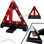 Roadside Emergency Cone LED Warning Triangle Light and Flashlight Battery Powered Road Safety Cone