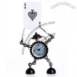 Robot Gear Robotic Style Alarm Clock Quartz Desk Clock