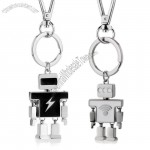 Robots Shaped Metal Keychain