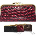 Rock pattern faux leather wallet