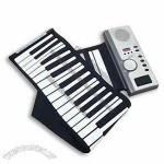 Roll-up Flexible Piano Keyboard, Easy to Carry