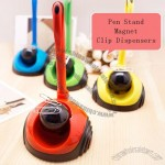 Roller Magnetic Paper Clip Dispensers with Pen Stand