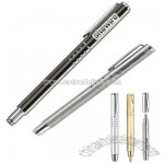 Roller ball pen with click action mechanism