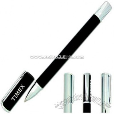 Roller ball pen with magnetic cap