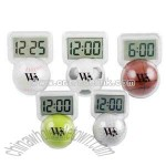 Rolling sports ball design LCD clock