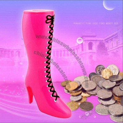 Romantic Pink Shoe Fund Money Box