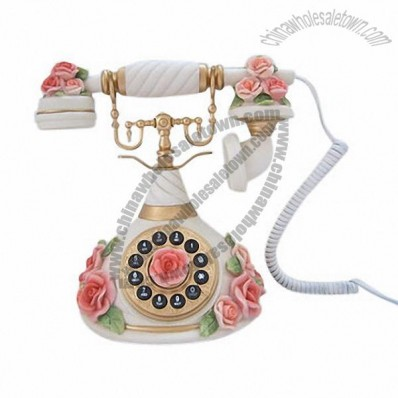 Rose Antique Wooden Telephones