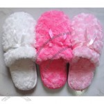 Rose Fleece Lady Memory Foam Slipper