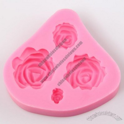 Rose Silicone Embossing Mould for Cake