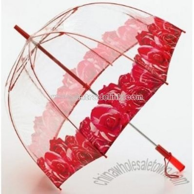 Rose Trim Bubble Umbrella