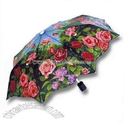 Rose-printed Umbrella