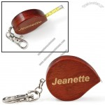 Rosewood Key Chain with 39 inch Tape Measure