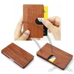 Rosewood Wooden Business Name Card Case