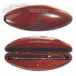 Rosewood ballpoint pen in football case