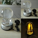 Rotate Crystal Ball with Colors Change LED Light