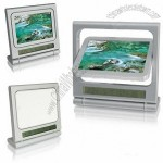 Rotating Digital Photo Frame witn Clock Calendar Thermometer