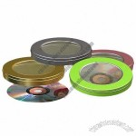 Round CD/DVD Tin Box With Transparent Window