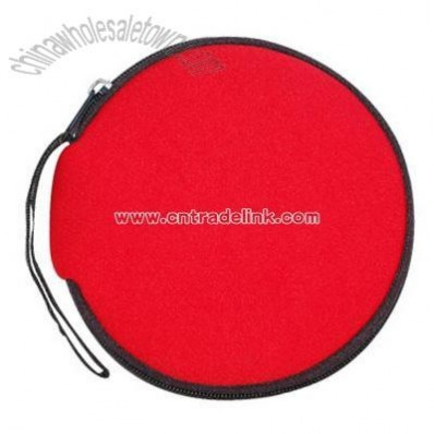 Round CD wallet holds 12 CDs