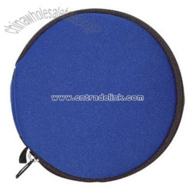 Round CD wallet holds 24 CDs