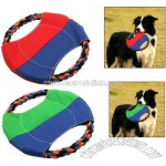 Round Dog Puppy Pet Training Catching Frisbee Flying Toy