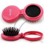 Round Foldable Comb with Mirror