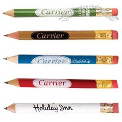Round Golf Pencil with Eraser