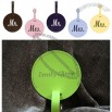 Round Leather Luggage Tags for Wedding