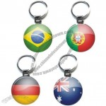 Round National Flag Keychain