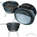 Round Portable BBQ Barbecue Grill