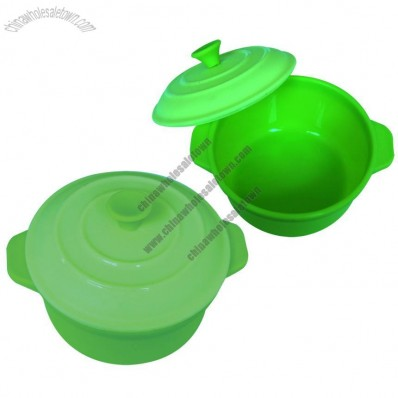 Round Shaped Silicone Pot Cooker Steamer Case, Microwave Healthy Non-Stick