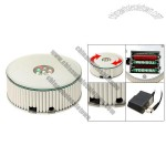 Round Silvery 7 LED Colorful Light Rotating Display Stand