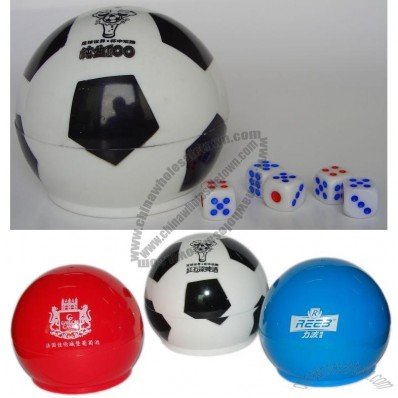 Round Soccer Dice Cup