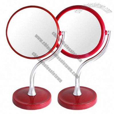Round Stand Magnifying Two-Way Mirror